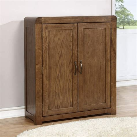 Shoes Cupboard by Solid Oak Shoe Cabinet Fits 20 Pairs Ebay