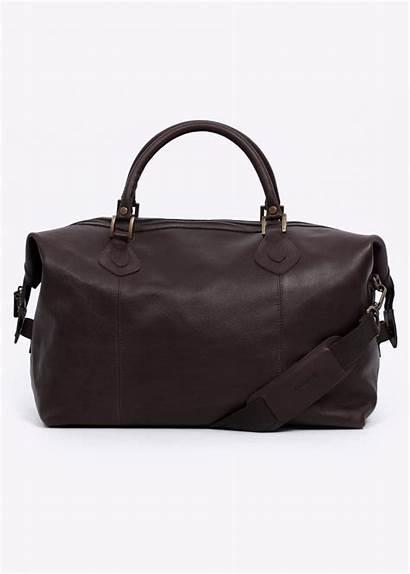 Barbour Leather Bag Travel Medium Chocolate Bags
