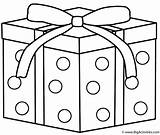 Coloring Hanukkah Gift Gifts Dots Happy sketch template