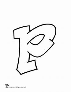 Graffiti Lowercase Letter p - Woo! Jr. Kids Activities