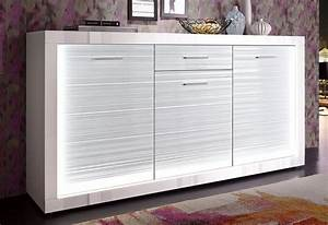 Sideboard Weiß Hochglanz 180 : sideboard starlight breite 180 cm inkl profil beleuchtung online kaufen otto ~ Bigdaddyawards.com Haus und Dekorationen
