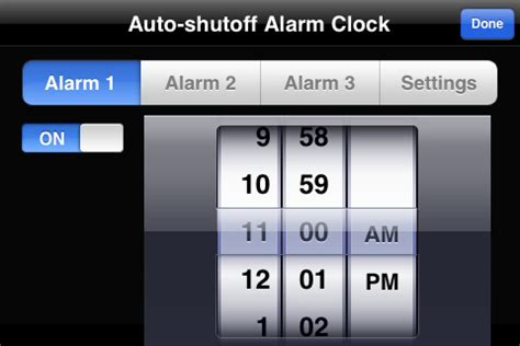 how to set an alarm on iphone auto shutoff alarm clock for iphone ipod touch
