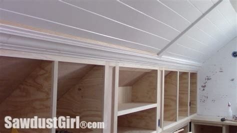 crown moulding  angled ceiling sawdust girl