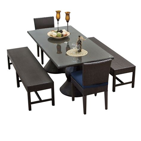 rectangle table with chairs tk classics napa rectangular outdoor patio dining table