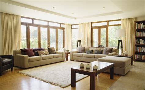 Living Room Background Images by Empty Living Room With Large Windows Can Be As Background