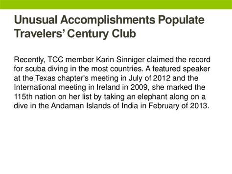 Suzanne Frye Urologist by Accomplishments Populate Travelers Century Club