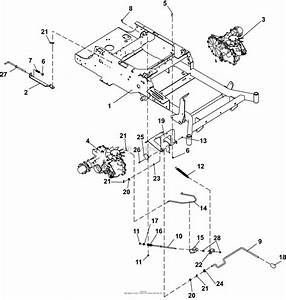 Bunton  Bobcat  Ryan 942600 Crz Fr600v Kaw W  48 Side Discharge Parts Diagram For Parking Brake
