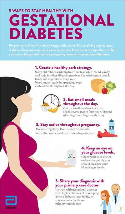 staying healthy  gestational diabetes infographics