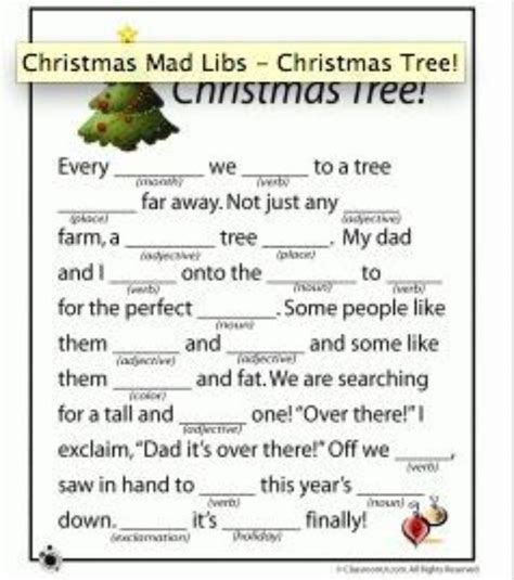 mad libs and christmas pinterest