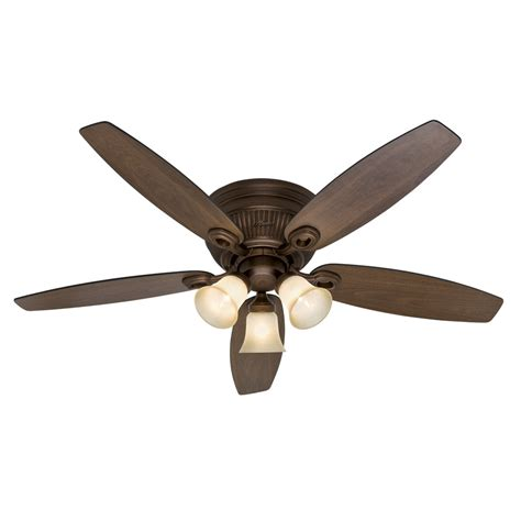 shop wellesley low profile 52 in northern flush mount ceiling fan with light kit