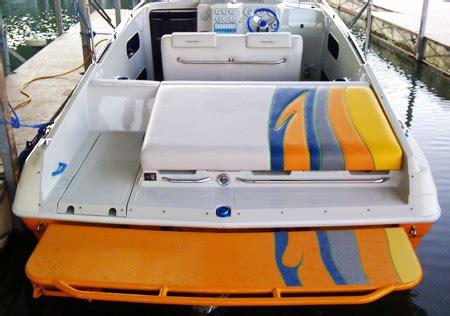 Tubular Boat Swim Platform by Solid Top Boat Swim Platforms