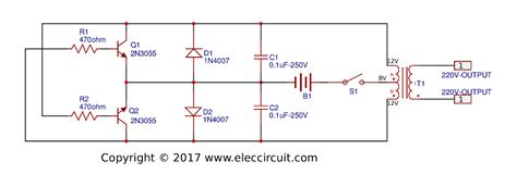 12v to 220v inverter circuit diagrampcb layout