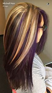 Blonde And Purple Hairstyles Fade Haircut
