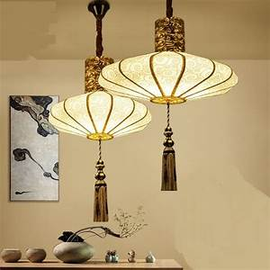 Chinese, Style, Pendant, Lamps, Cloth, Art, Creative, Hand, Painting, Restaurant, Pendant, Lights, Hotel