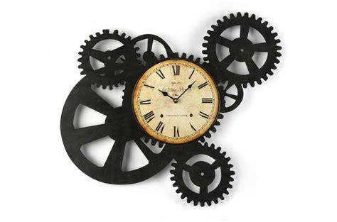 table de cuisine et chaise horloge murale engrenage 51 x 54 cm horloge design pas cher