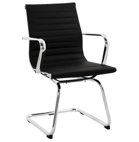 bureau noir design chaise de bureau design giga en similicuir noir fauteuil