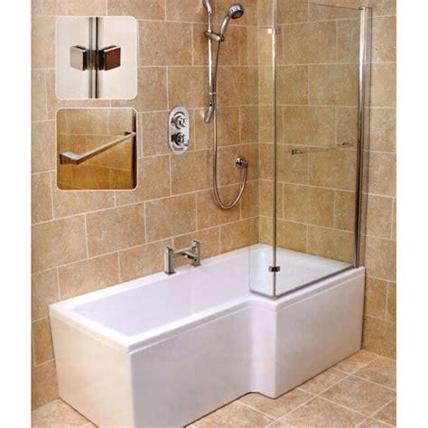 Buy Shower Bath by Laguna L Shape Shower Bath Right Handed Buy At