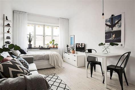 cool studio apartment  scandinavian style ideas