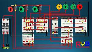 Forward Reverse Star Delta Starter Control Wiring Connection Diagram