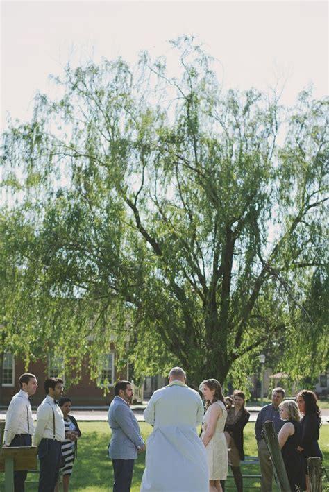 intimate outdoor wedding columbus ohio