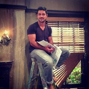 Ryan Paevey.. Just sitting on a ladder.. With his script ...