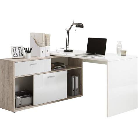 bureau moderne bureau d 39 angle avec rangements elsa design sur sofactory