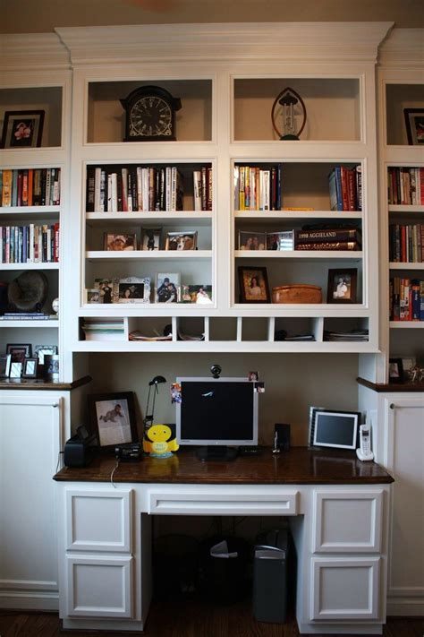 Office Desk With Bookshelf by Custom Made Built In Desk Bookcases By Custom Cabinets