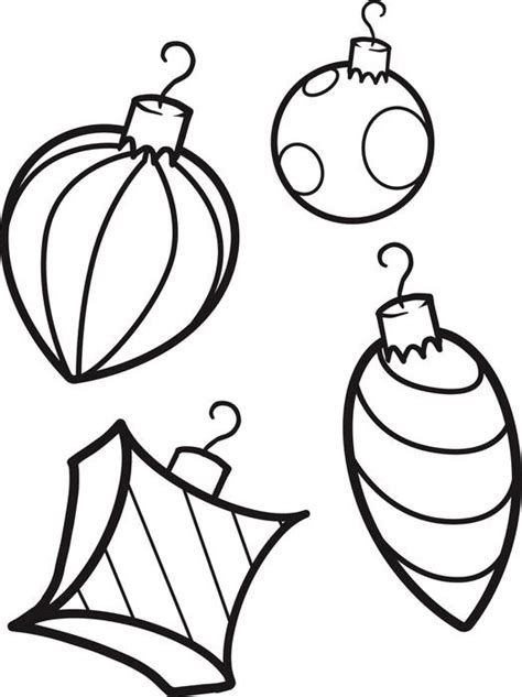 Christmas Ornament Coloring Pages  Best Coloring Pages