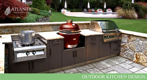 kitchen layout with island outdoor kitchen design by atlantic outdoor living