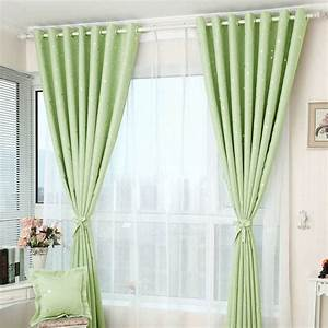 Beauteous printed star pattern apple green curtains for Green curtain patterns