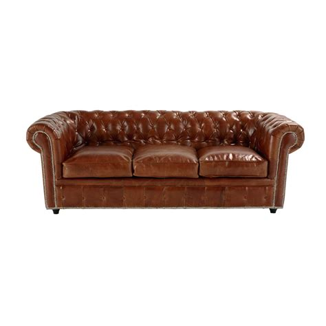 canapé chesterfield convertible cuir canapé convertible capitonné chesterfield 3 places en cuir