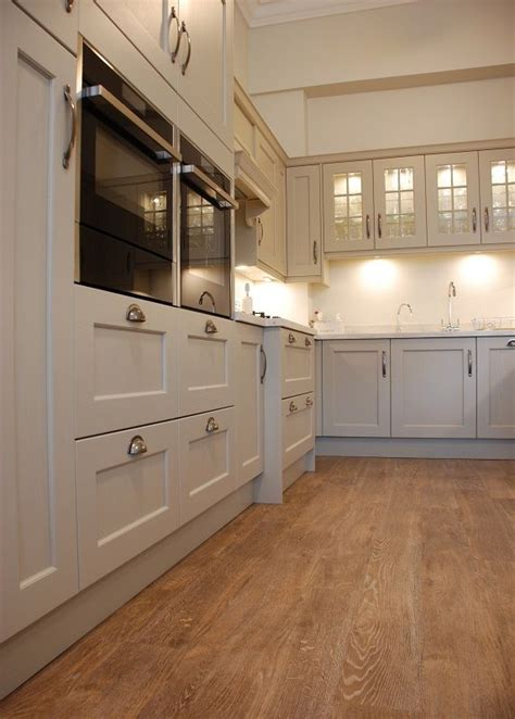 Kitchen Cabinets Biscuit Color new shaker kitchen painted in biscuit colour with brecon
