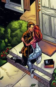 Image - Mary Jane (Earth-1610) & Harry Osborn kissing.png ...