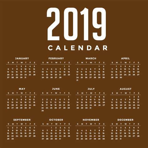 minimal brown  year  calendar design  graphicmore