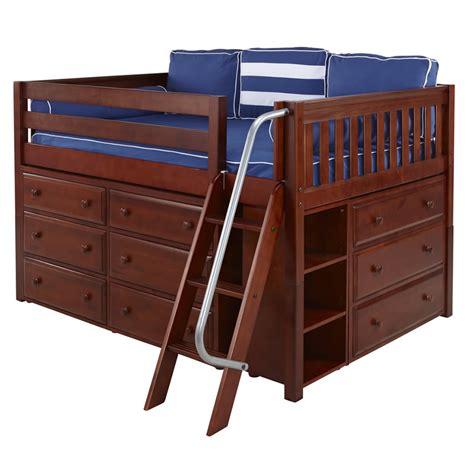 Xl Storage Bed by Xl 3 Size Storage Bed In Chestnut By Maxtrix 601