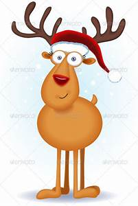 Cute Reindeer Christmas Fonts And Clipart - Clipart Suggest