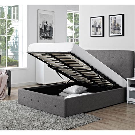 Fabric Storage Bed by Chanel Fabric Storage Bed Ideal Furniture
