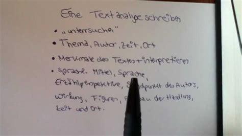 eine textanalyse schreiben aufbau und beispiel fuer den