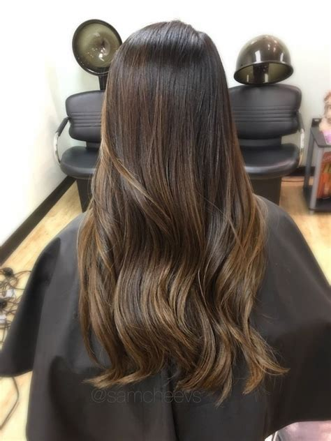 brown highlights  black hair asian hair color