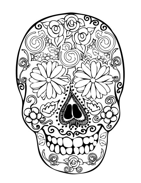 sugar skull coloring pages      pinterest