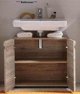 Meuble Evier Salle De Bain : meuble sous lavabo de salle de bain contemporain ch ne ~ Dailycaller-alerts.com Idées de Décoration