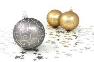 ornaments free stock photo silver and gold ornaments with silver on a white