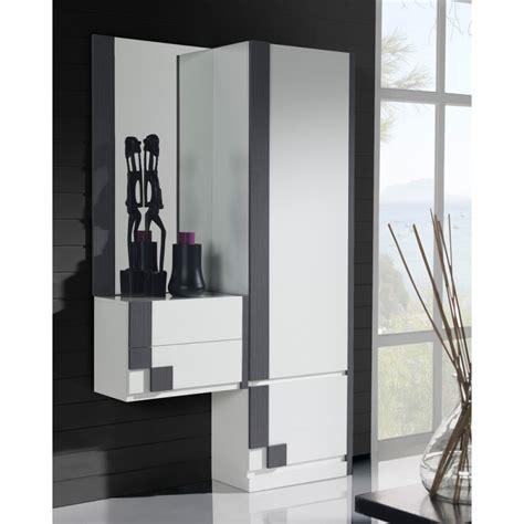 meuble de cuisine blanc laqué meuble d 39 entrée armoire miroir blanc cendre paoula