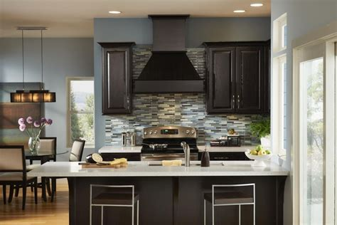 Thermofoil Cabinet Doors Home Depot by Dark Brown Kitchen Cabinets
