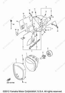Yamaha Motorcycle 2007 Oem Parts Diagram For Headlight