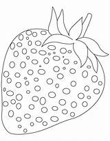 Strawberry Coloring Fruit Spirit sketch template