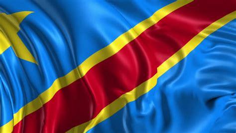 stock video clip  flag  democratic republic  congo