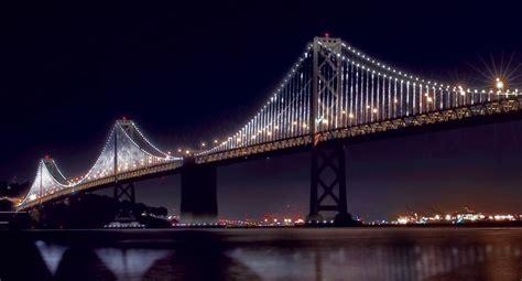 bay bridge lights bay lights installation to illuminate the san francisco