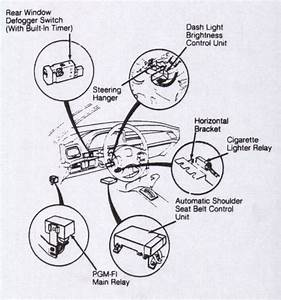 How Do I Disconnect The Seat Belt Alarm For My 1991 Honda