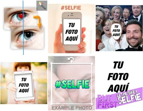 fotomontajes en la pantalla de  smartphone  selfies